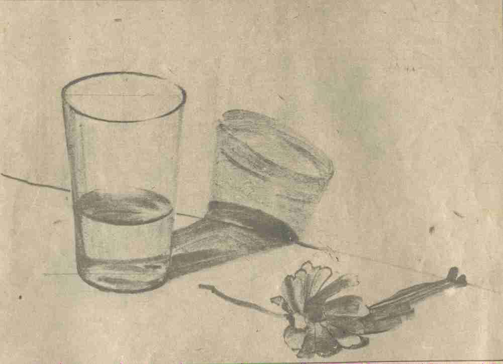 一幅是柯洛的风景,一幅是鼎铭师的铅笔画