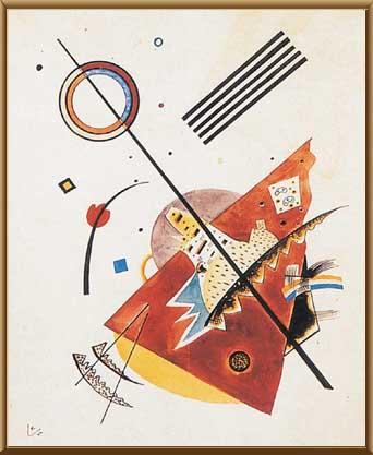左三幅画是康定斯基的作品 这几位画家认为色彩和形状,就是他的音符